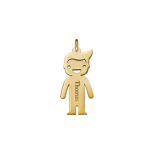 Personalised Boy Charm - Gold Plated