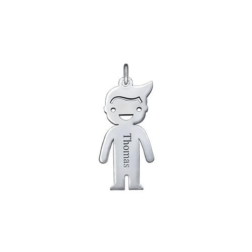 Personalised Boy Charm - Silver