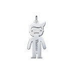 Personalised Boy Charm - Silver