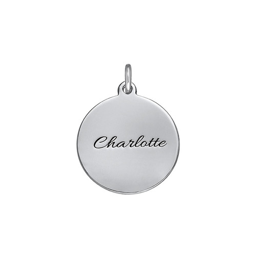Personalised Disc Charm in Silver