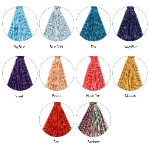Personalised Family Tree Jewellery - Bead Bracelet with Tassel - 2