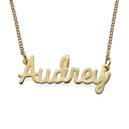 Personalised Jewellery - Gold Plated Cursive Necklace