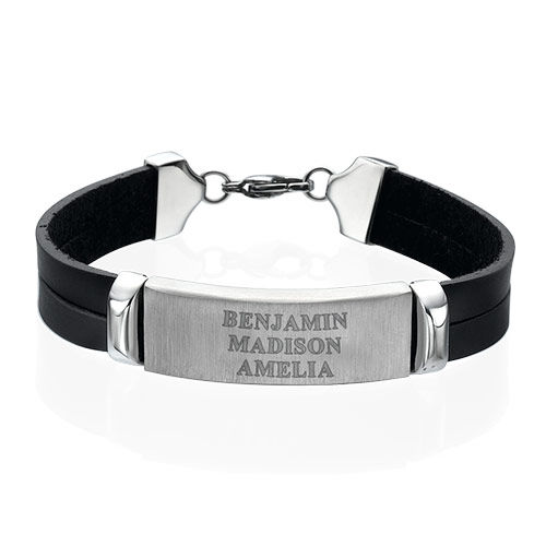 Personalised Leather Bracelet for Men
