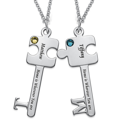 Personalised Puzzle Key Necklace Set - 1