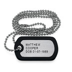 Engraved Dog Tag in Stainless Steel
