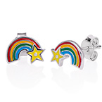 Rainbow Earrings for Kids
