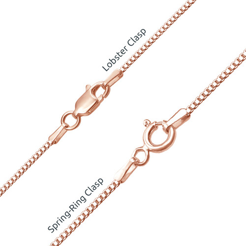 Rose Gold Plated Silver Swarovski Name Necklace - 2