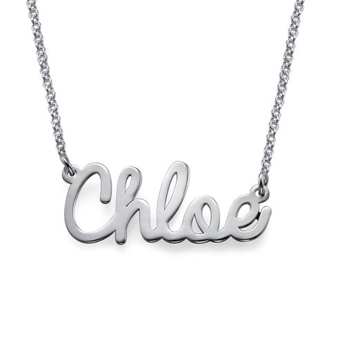 Personalised Name Necklace in Silver