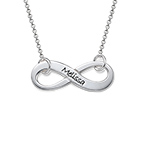 Silver Infinity Necklace with Engraving