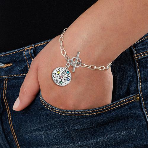 Silver Tree of Life Bracelet - Filigree Style - 2