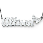 Sterling Silver  Butterfly Name Necklace