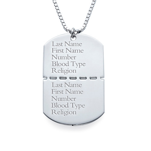 Sterling Silver Dog Tags for Men