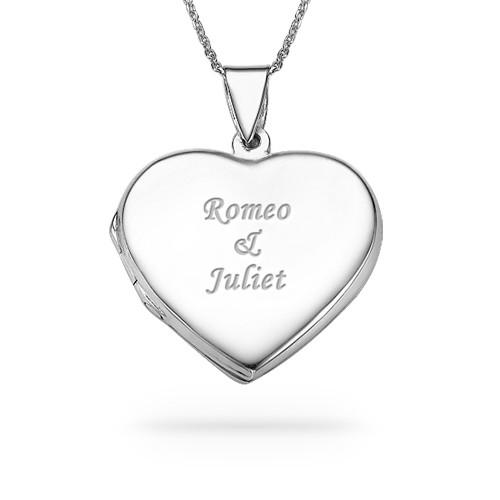 Sterling silver engraved heart locket necklace mynamenecklace ie sterling silver engraved heart locket necklace mozeypictures Images