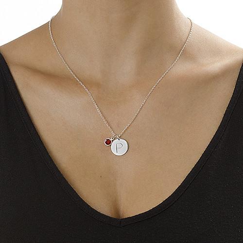 Crystal Engraved Charm Pendant - 1