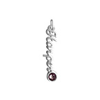XS Name Pendant with Birthstone