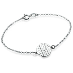 Xtra Small Block Monogram Bracelet