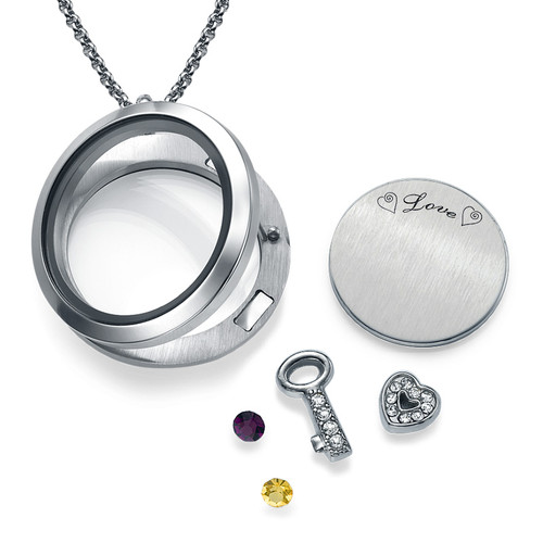 You Are the Key to My Heart Floating Locket - 1