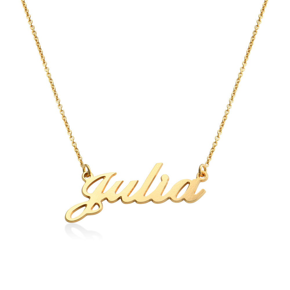 18ct Gold-Plated Silver Classic Name Necklace