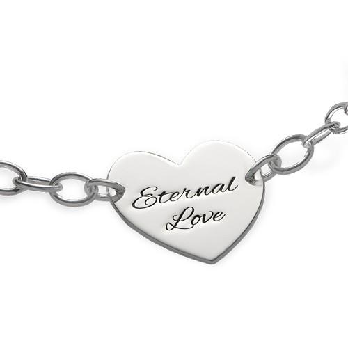 Engraved Heart Bracelet - 1