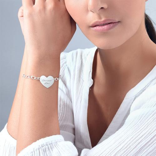 Engraved Heart Bracelet - 2