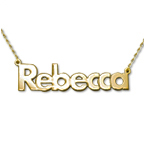 14ct Gold Bold Print Name Necklace