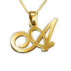 14ct Gold Initials Pendant with Any Letter