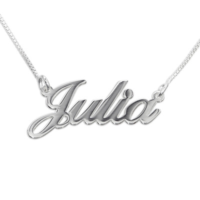 Small Sterling Silver Name Necklace