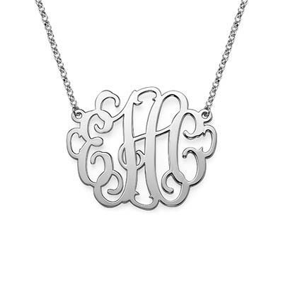 XL Monogram Necklace in Sterling Silver