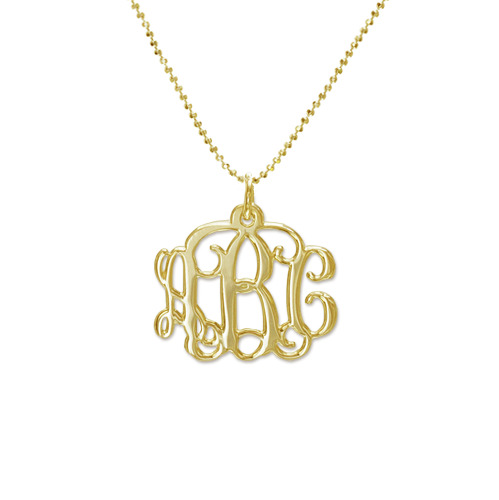 My Name Necklace Jewel-10k Gold Personalized Monogram Necklace at Sears.com