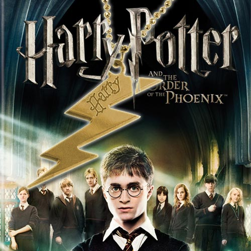 18k Gold Plated Engraved Harry Potter Lightning Bolt
