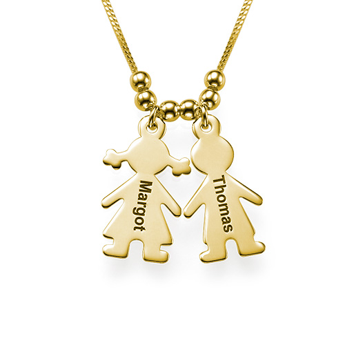 mother u2019s necklace with engraved children charms