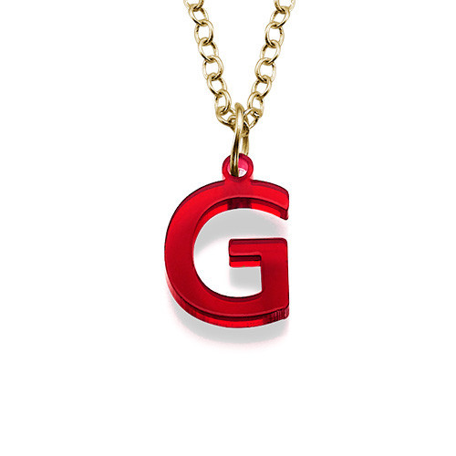 Acrylic initial pendant mynamenecklace for Acrylic letter necklace
