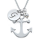 Anchor Jewelry with Initial Charm