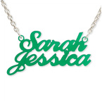 Colorful Couples Name Necklace