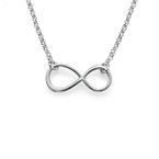 Delicate Silver Infinity Necklace