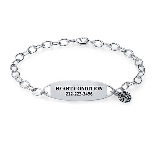 MyNameNecklace.com Engraved Medical ID Bracelet with Charm at Sears.com