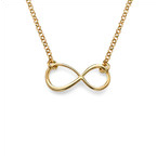 Gold Plated Delicate Touch Infinity Necklace