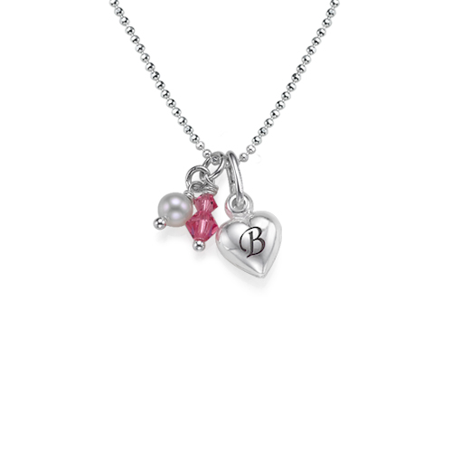 MyNameNecklace.com Heart Charm Necklace with Initial at Sears.com