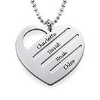 Heart Necklace with Engraved Names
