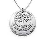 Layered Family Tree Necklace in Silver