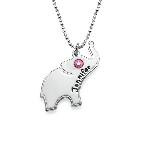 lucky elephant necklace with engraving mynamenecklace