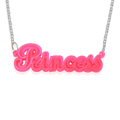 MyNameNecklace.com Neon Pink! Name Necklace at Sears.com