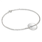 Personalized Bracelet with Engraved Disc