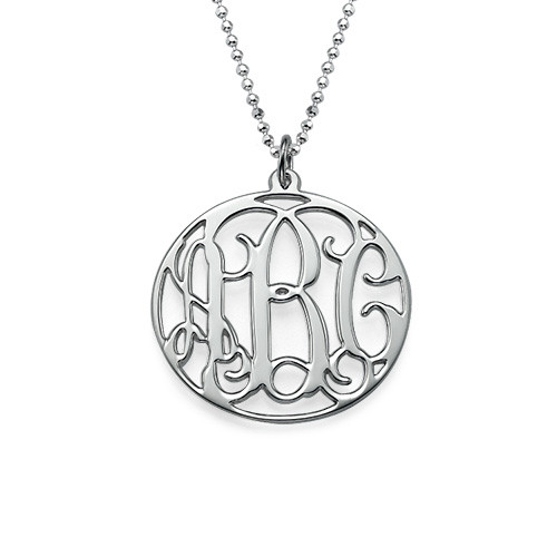 My Name Necklace Jewel-Personalized Circle Initial Monogram Necklace at Sears.com