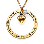 Personalized Mothers Jewelry in Gold Plating