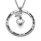 Personalized Mothers Jewelry in Silver