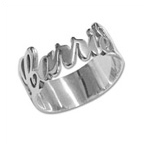 Personalized Silver Cut Out Ring