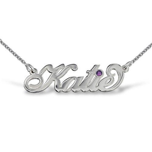 My Name Necklace Jewel-Silver Swarovski Name Necklace at Sears.com