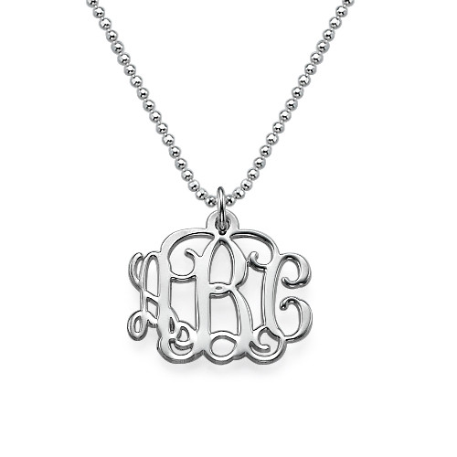 My Name Necklace Jewel-Small Sterling Silver Monogram Necklace at Sears.com