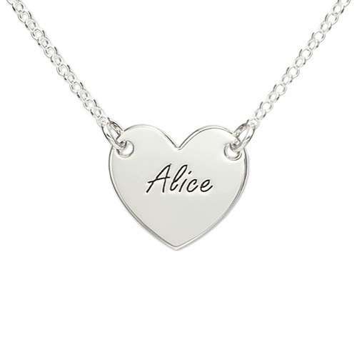 My Name Necklace Jewel-Sterling Silver Engraved Heart Necklace at Sears.com